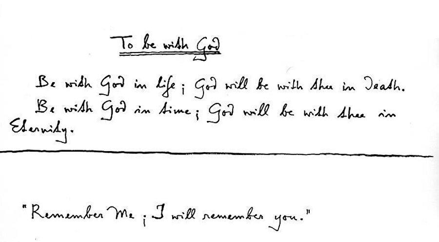 """Schuon'un bir şiiri: """"Yaşamında Allah'la ol ki; O da ölümünde seninle olsun. Zamanda O'nunla ol ki; Allah da sonsuzlukta seninle olsun."""""""