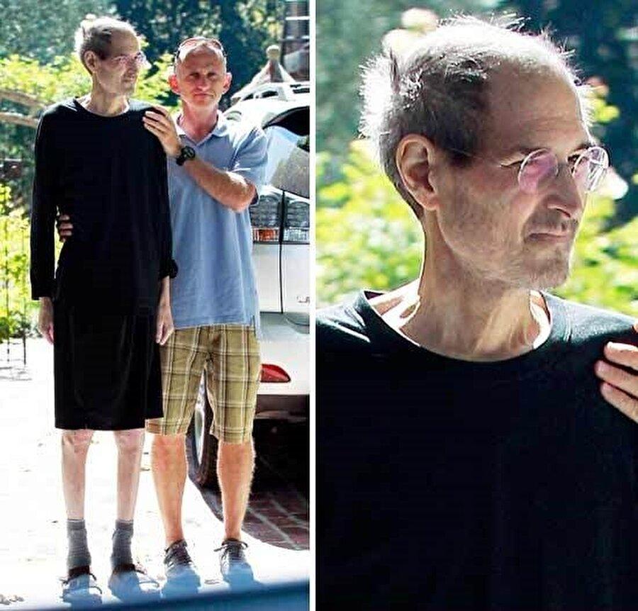 Steve Jobs'un hastalığının ilerlediği zamanlara ait bir fotoğraf.