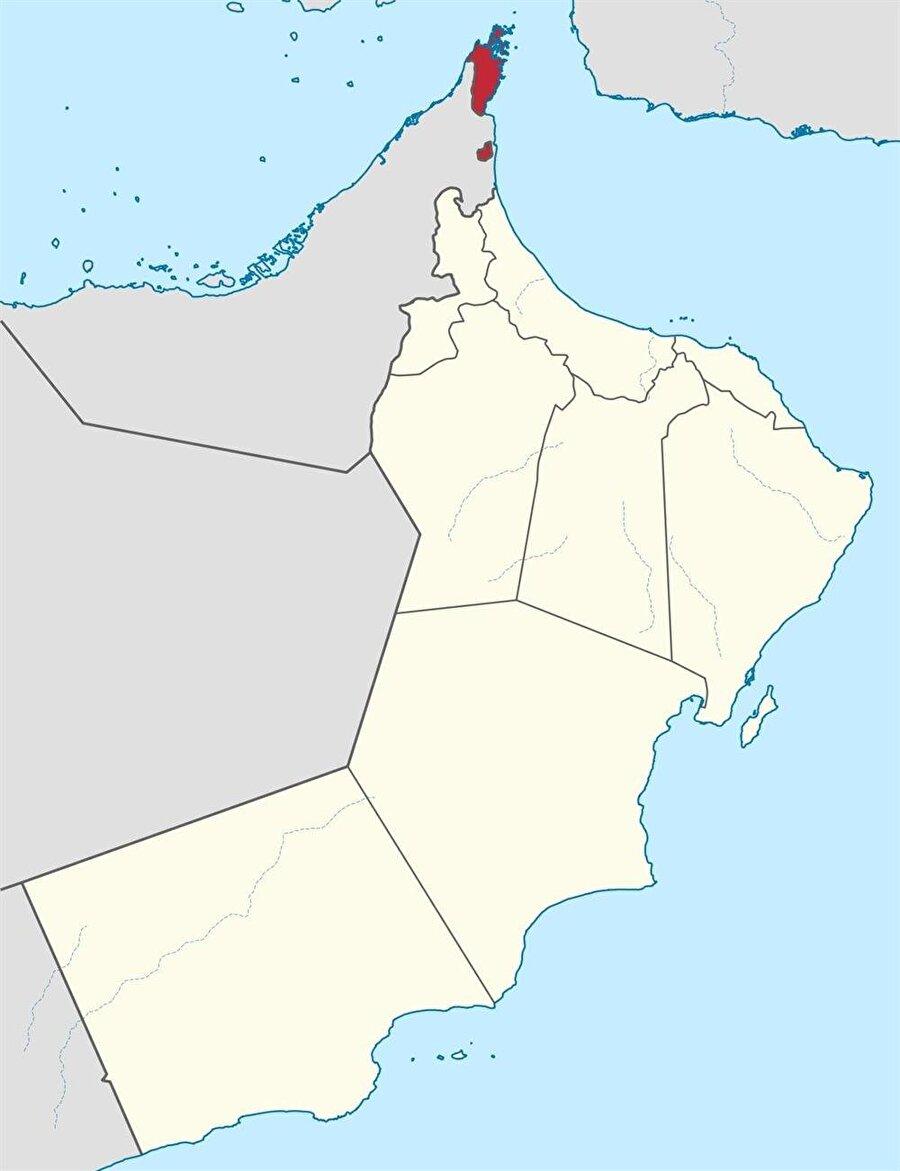 Basra Körfezi'nin Hint Okyanusu'na açıldığı noktada yer alan Musandam Yarımadası, fiziksel bağlantısı olmamasına rağmen, Umman'a verildi.