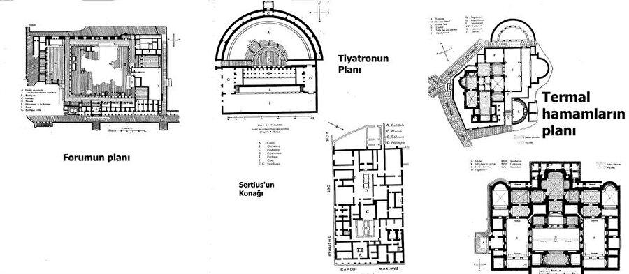 Antik kente, şehri cazibe noktası haline getirecek büyük yapılar da inşa edildi.