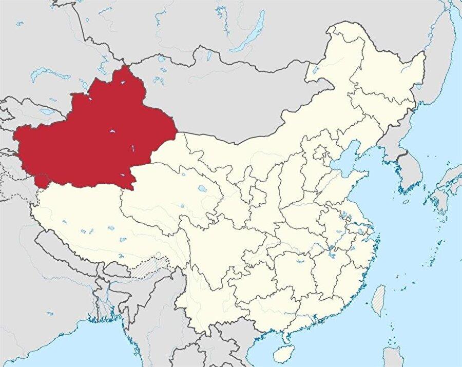 """""""Doğu Türkistan"""" olarak da bilinen Uygur Özerk Bölgesi."""