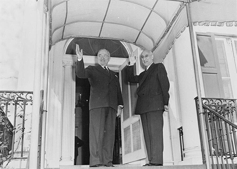 Muhammed Musaddık ve Harry Truman, 27 Ekim 1951'de bir araya gelmişlerdi.