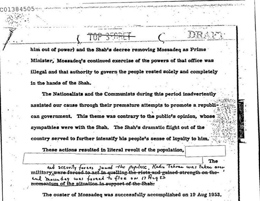19 Ağustos 2013 günü basına yansıyan belgelerden birisi.