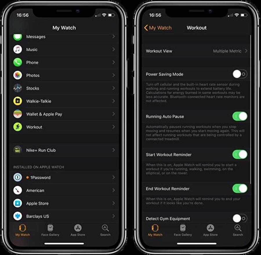 Apple Watch Ezgersizler uygulamasında güç tasarruf modu yalnızca iki adımda aktif edilebiliyor.