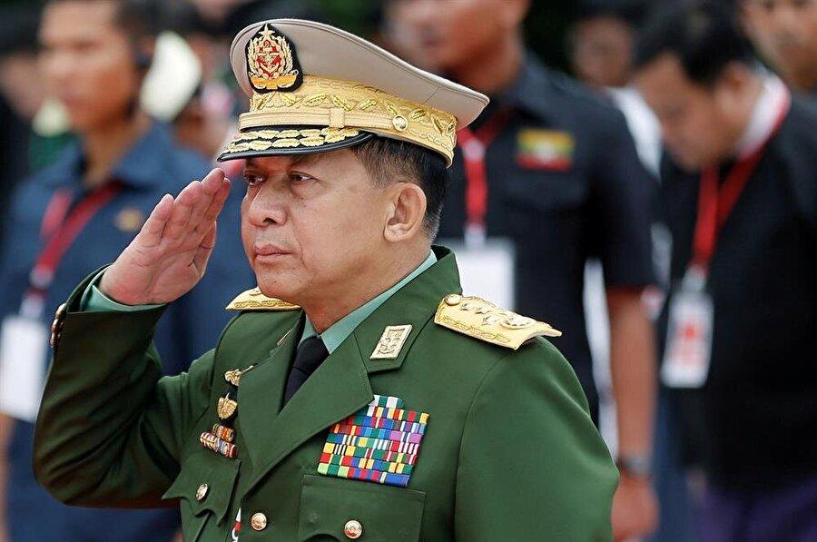 Myanmar Genelkurmay Başkanı Min Aung Hlaing'in Uluslararası Ceza Mahkemesi'nde yargılanması istendi. (Ann Wang / Reuters)