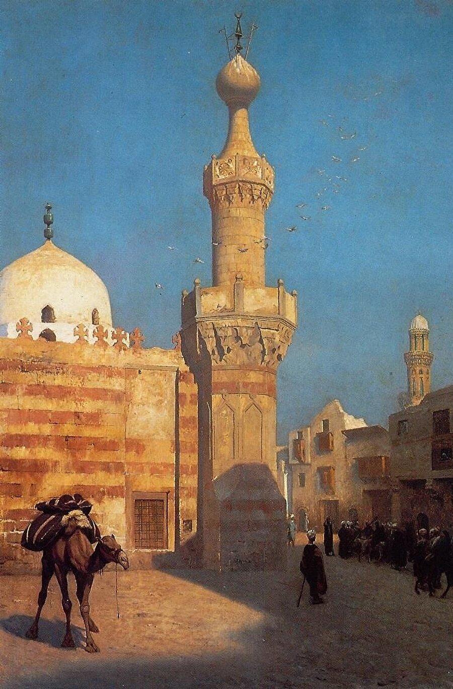 Jean-Léon Gérôme Doğu insanlarının yanı sıra gittiği şehirlerin sokaklarını da tuvaline aktardı.