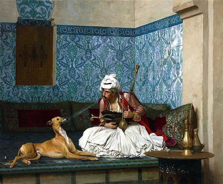 """Jean-Léon Gérôme """"Arnavut ve Köpeği"""" adlı tablosu."""