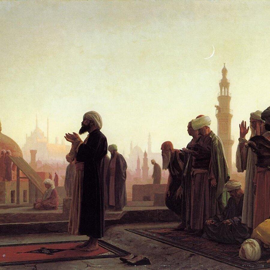 """Jean-Léon Gérôme en ünlü eseri olan """"Kahire'de cemaat"""" tablosu."""