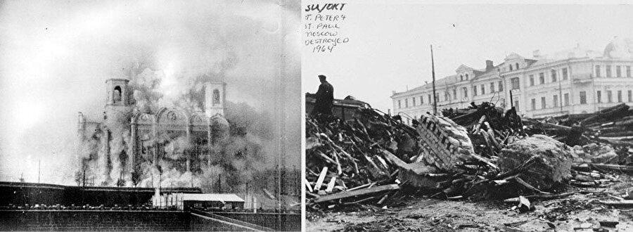 Sscb'de başlatılan Ateist hareket sonucu birçok cami, kilise ve sinagog yıkıldı.