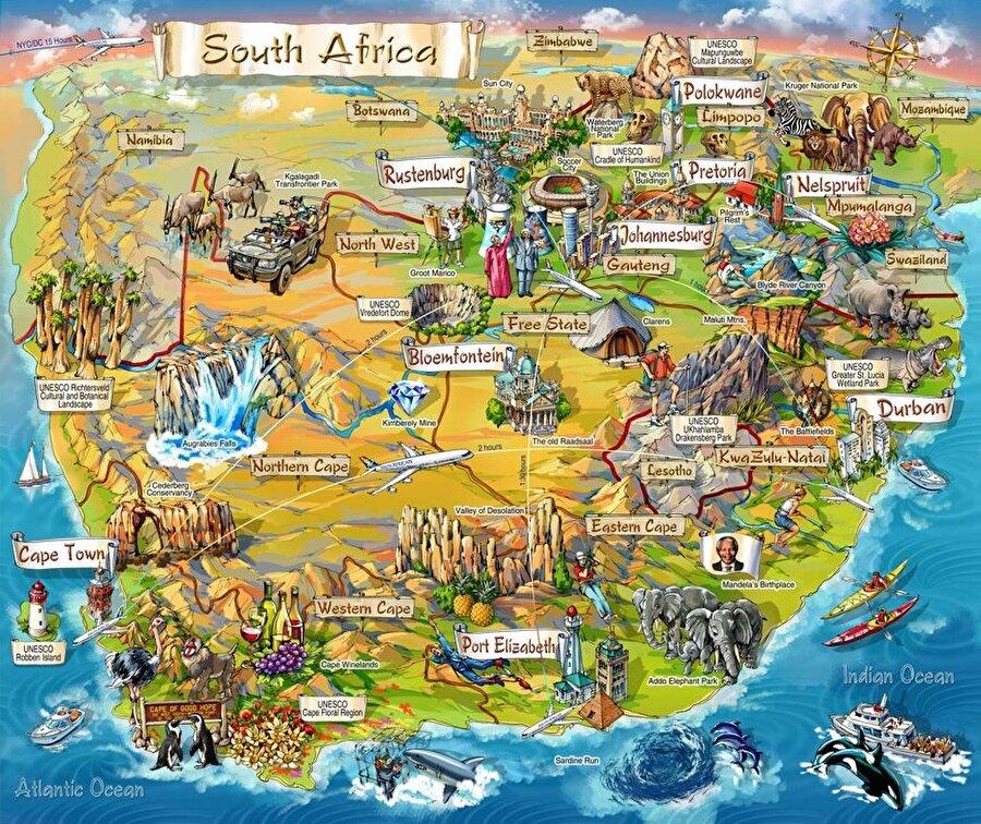 Güney Afrika nüfusu, dört farklı etnik gruptan meydana gelmektedir. Siyahlar ve Bantular % 70 ile en kalabalık grubu oluşturular. Beyazlar % 17, melezler % 10 ve Asyalılar ise % 3 ile nüfusun kalan bölümünü meydana getirirler. Beyazlar Hollanda, İngiliz, Fransız ve Alman menşelidir. Ülkede okuma yazma bilenlerin oranı % 80'dir.