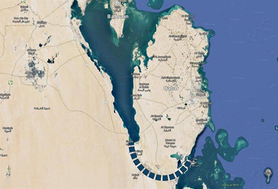 Kanal projesi, Katar'ı tamamen izole etmeyi amaçlıyor.