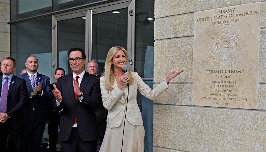 ABD'nin Kudüs'teki büyükelçilik binası, Donald Trump'ın kızı Ivanka tarafından açılmıştı.