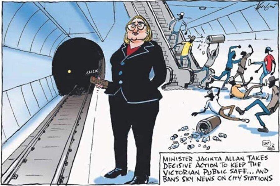 Mark Knight'ın bahsi geçen karikatürü...