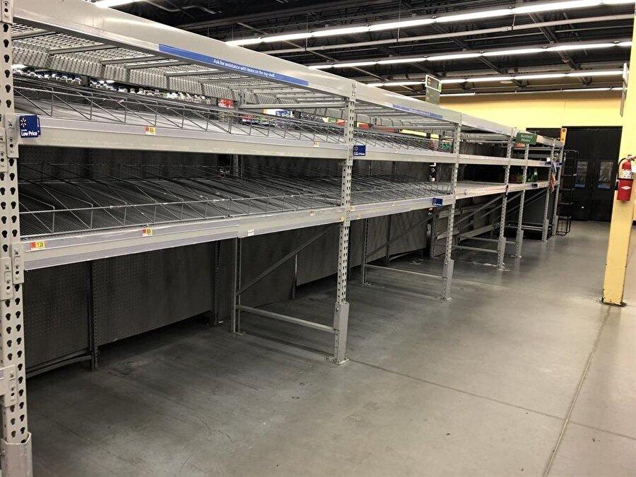 ABD'de halk marketleri boşalttı. / Fotoğraf: Bilal Kenasari