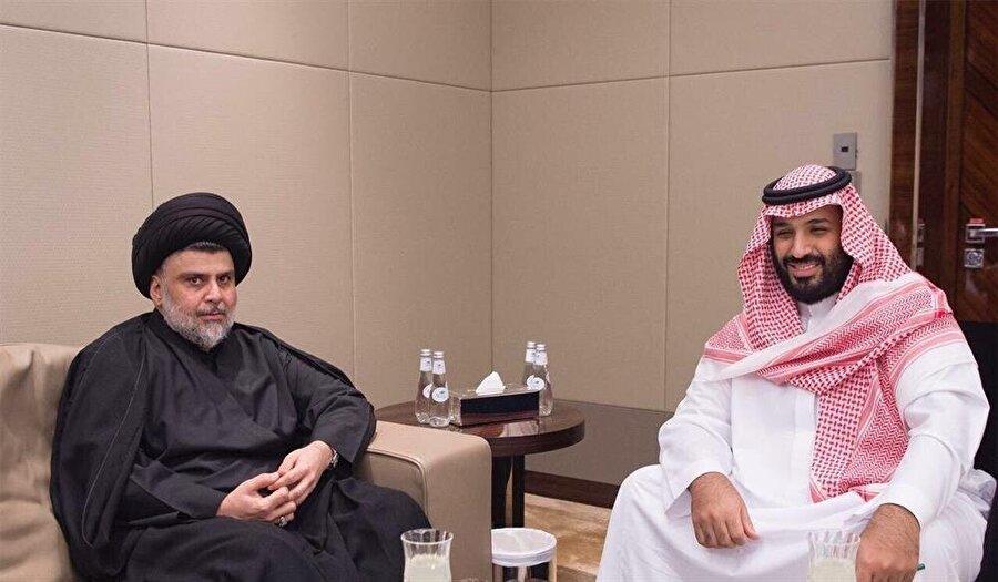 Muktedâ Sadr'ın Suudi Arabistan Veliaht Prensi Muhammed bin Selman'la da diyalogu bulunuyor.