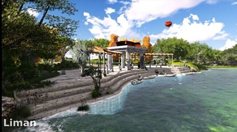 Yapımı planlanan limanın görüntüleri.