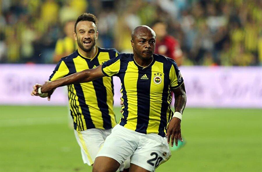 Andre Ayew, Fenerbahçe formasıyla ilk golünü Kayserispor'a attı.