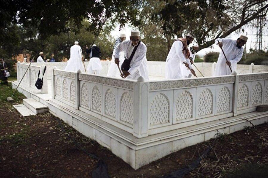 İsrail'deki Barizlai Tıp Merkezi'nin bahçesinde, Davudiler tarafından kutsiyet atfedilen mekan.
