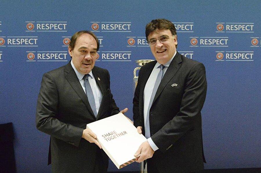 TFF Başkanı Yıldırım Demirören, UEFA'ya Türkiye'nin EURO 2024 dosyasını sundu.