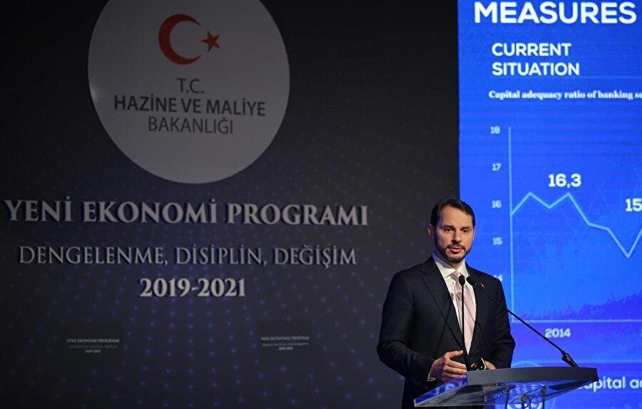 Hazine ve Maliye Bakanı Berat Albayrak, Yeni Ekonomi Programı'nda konuşmuştu.