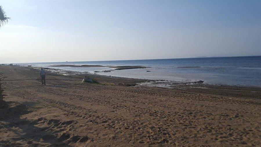 Çiftlikköy ilçesi sahilinde yaklaşık 20-25 metre bir deniz suyu çekilmesi olduğu, Altınova bölgesine doğru bunun 1-2 metrelere kadar düştüğü belirlendi.