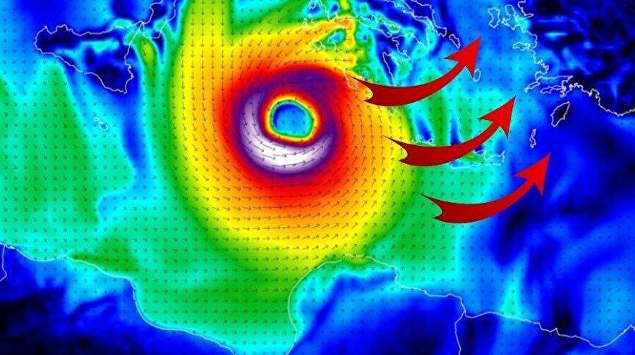 Kasırganın hareketlenmeleri ve işleyiş süreci çeşitli grafiklerle ortaya konuyor.