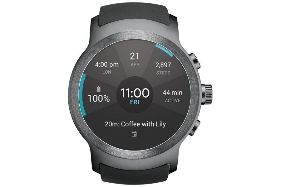 LG Watch W7, ölçüm işlemlerindeki başarısıyla ilgi çekiyor. Ana menünün basit tasarımı da saat için önemli bir artı.