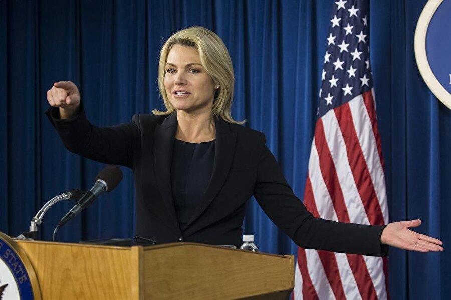 ABD Dışişleri Bakanlığı Sözcüsü Heather Nauert, Washington'daki Yabancı Medya Merkezi'nde yabancı basın mensuplarının sorularını cevaplamıştı.