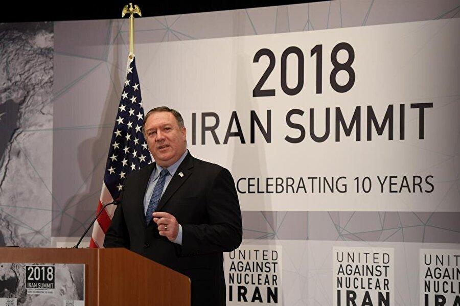 ABD Dışişleri Bakanı Mike Pompeo, New York'ta Birleşmiş Milletler Genel Kurulu'nun aralarında yer alan Nükleer İran Zirvesi'ne karşı bir konuşma gerçekleştirmişti.