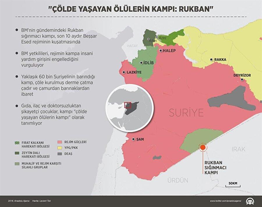 Rukban Kampı'yla ilgili Anadolu Ajansı bir grafik yayımladı.