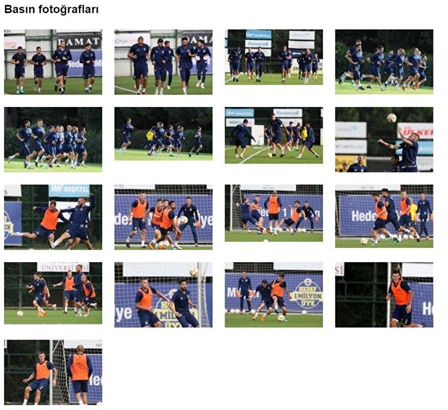 Resmi sitede 'Basın Fotoğrafları' başlığıyla yayınlanan görüntüler bu şekilde.