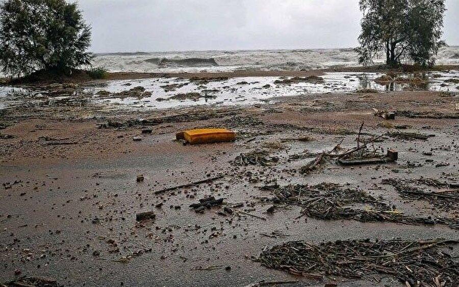 Fırtınanın özellikle Yunanistan'ın doğusundaki Evia adasında ve Mora Yarımadası'nın güneyinde etkili olduğu, rüzgarın hızının 100 kilometrenin üzerine çıktığı belirtildi.