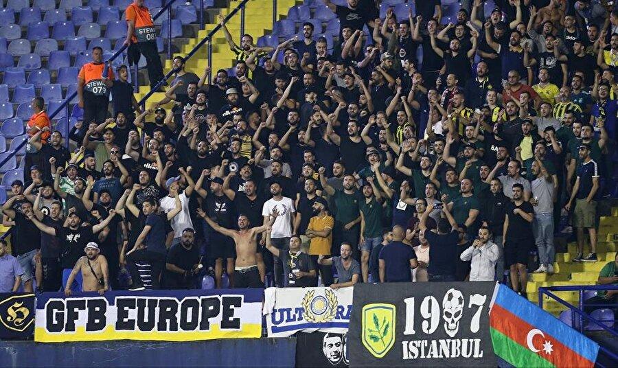 Fenerbahçe taraftarı, Zagreb deplasmanında takımını yalnız bırakmamıştı.