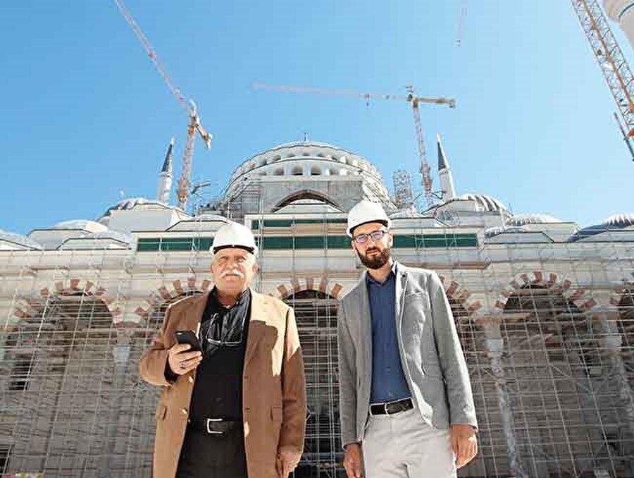 İstanbul Cami ve Eğitim Kültür Hizmetleri Yaptırma ve Yaşatma Derneği Başkanı Ergin Külünk, inşaatın bitme noktasına geldiğini belirtiyor