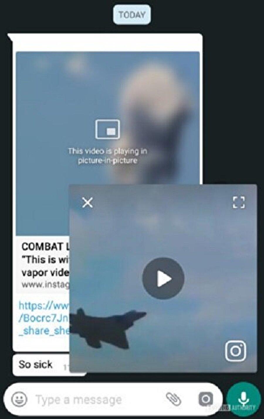 WhatsApp'taki ufak video penceresinde tamamen kapatma ya da tam ekran yapma gibi özellikler de sunuluyor.