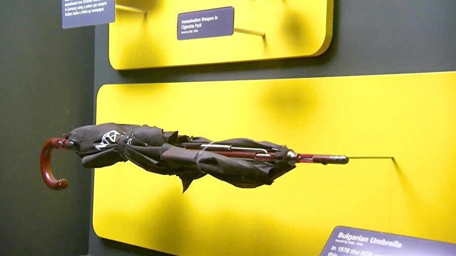 Markov'un öldürülmesinde kullanılan suikast silahı şemsiye bir müzede sergileniyor.