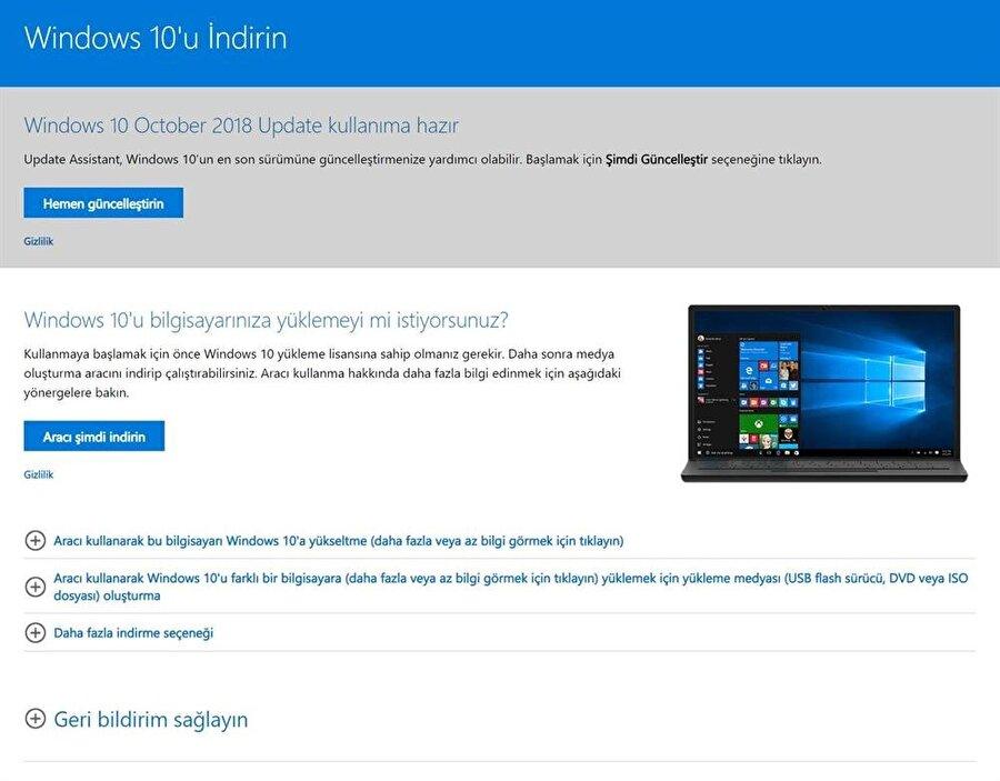 Yeni güncellemeyi yüklemek isteyenler Windows 10 Güncelleme Yardımcısı ile kuruluma geçmesi gerekiyor.