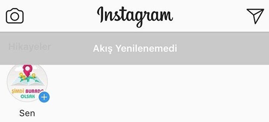 Benzer durum mobil uygulama için de geçerli. Instagram mobil uygulamaları üzerinden platforma erişilmeye çalışıldığında 'Akış Yenilenemedi' uyarısıyla karşılaşılıyor.