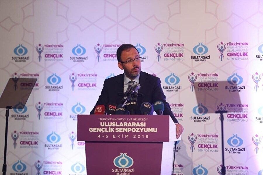 Sempozyumda Gençlik ve Spor Bakanı Mehmet Kasapoğlu bir konuşma gerçekleştirdi.