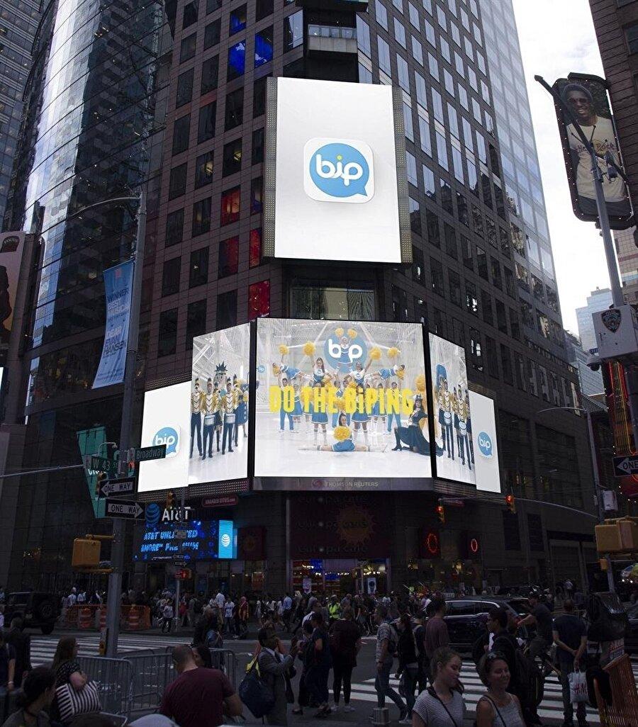 BiP, muhtelif ülkelerdeki en büyük merkezlere tanıtım ilanlarını yerleştirdi.