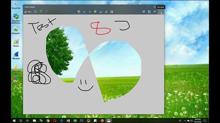 Yeni Ekran Görüntüsü aracı eskiye oranla birçok farklı seçenek sunuyor. Bunun başlıcalarından biri de artık tek bir uygulamayla kesme, biçme, yapıştırma ve diğer birçok detayın halledilebiliyor olması.