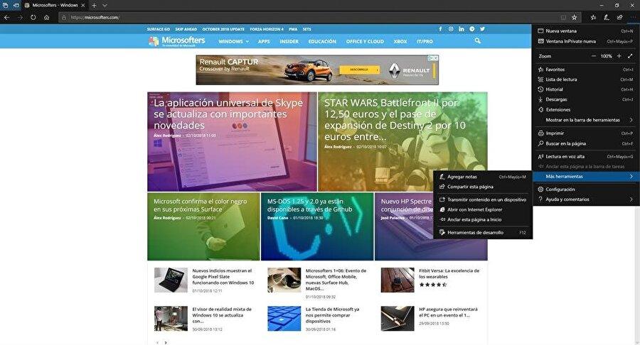 Microsoft Edge'de de değişiklikler var. Bunların en işlevsel olanı ise artık otomatik başlayan ve sesle kullanıcıları ziyaret eden web siteleri tek bir simge üzerinden sessiz hale getirilebiliyor.