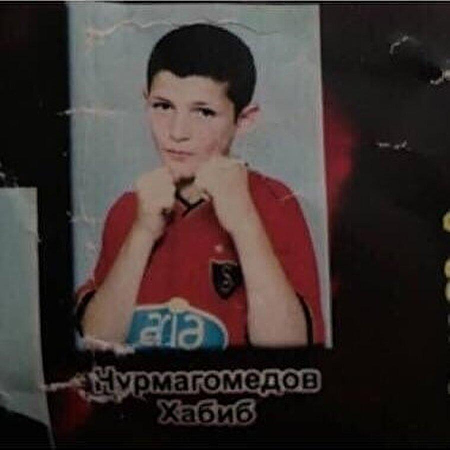 Khabib'in çocukluk yıllarına ait bir fotoğraf.