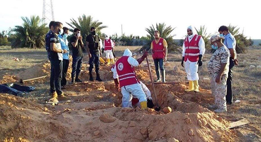 Kızılay yetkililerine göre, Sirte'de daha fazla ceset bulunması mümkün.