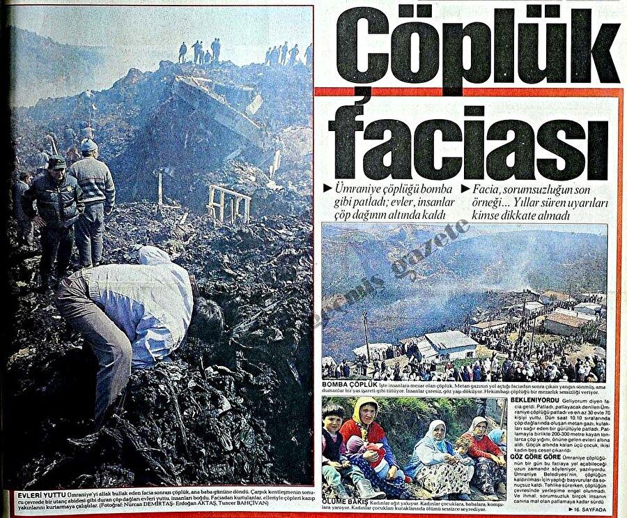 Patlama sonrası bölgede bulunan gecekondularda yaşayan insanlar maddi ve manevi zarar gördü.