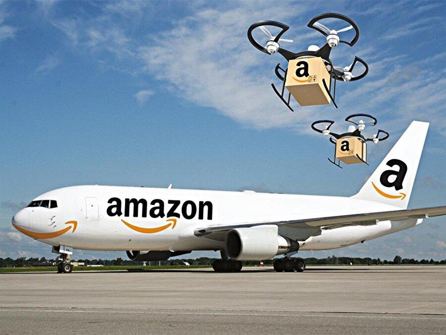 Amazon, klasik kargolama yöntemlerine 'drone' ve 'uçak sistemlerini' de adapte etti.