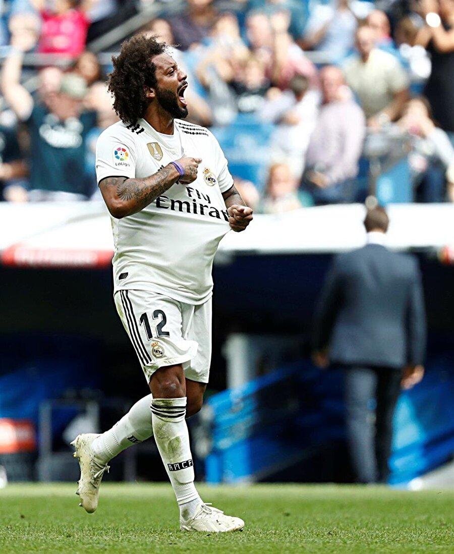 Marcelo, Levante karşısında takımının 481 dakikalık gol orucunun sonlandırdığı için coşkulu bir sevinç yaşıyor.
