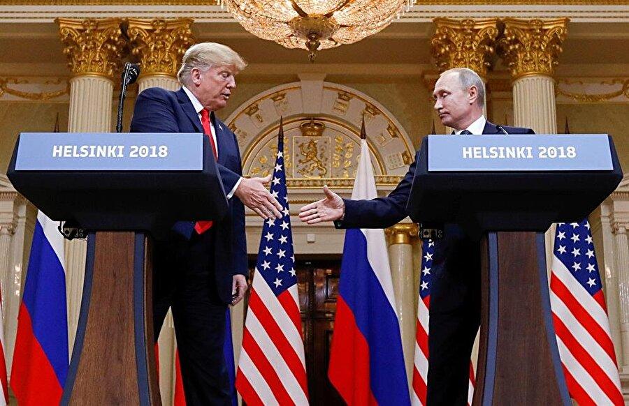 ABD Başkanı Donald Trump ve Rusya Devlet Başkanı Vladimir Putin, Finlandiya'da yaptıkları toplantı sonrasında ortak bir basın toplantısı düzenlemişti.