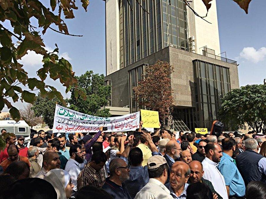 Ürdün halkı İsrail ile yapılan bu sözleşmenin sonlandırılması için birçok protesto düzenledi.