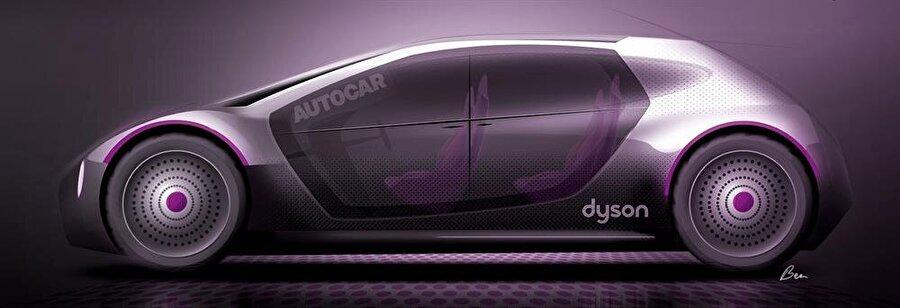 Dyson'ın elektrikli otomobilinin şu ana kadar ortaya çıkan çizimleri bu şekilde.